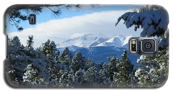Snowy Pikes Peak Galaxy S5 Case by Marilyn Burton