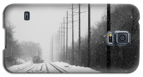 Galaxy S5 Case featuring the photograph Snowy Rails by Steven Macanka