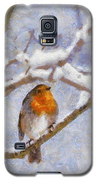 Snowy Robin Galaxy S5 Case