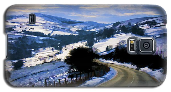 Snowy Scene And Rural Road Galaxy S5 Case