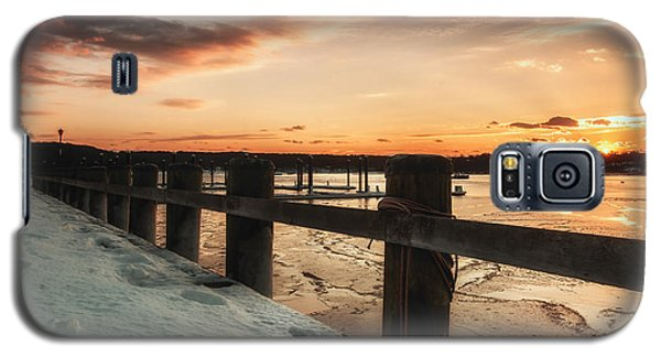 Snowy Sunset In Northport New York Galaxy S5 Case