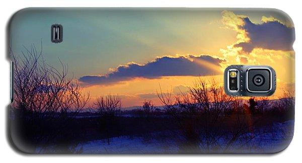 Snowy Sunset Galaxy S5 Case