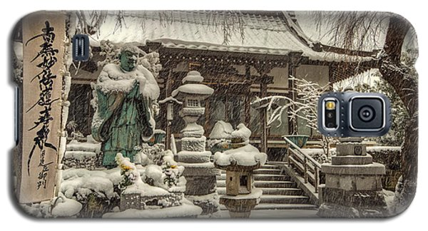 Galaxy S5 Case featuring the photograph Snowy Temple by John Swartz