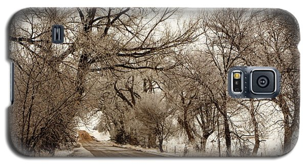 Galaxy S5 Case featuring the photograph Snowy Trail by Shirley Heier