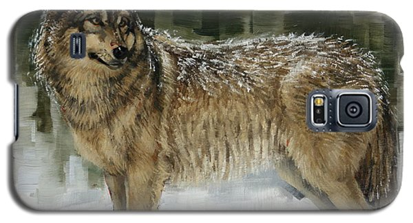 Snowy Wolf Galaxy S5 Case by Margaret Stockdale