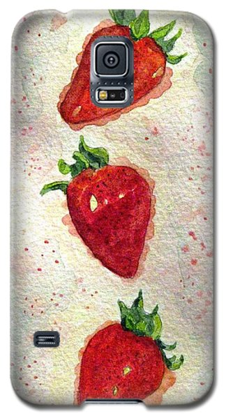 Galaxy S5 Case featuring the painting So Juicy by Angela Davies