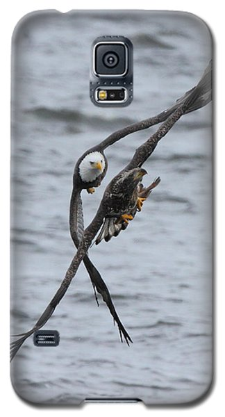 Galaxy S5 Case featuring the photograph Soaring With Junior by Coby Cooper