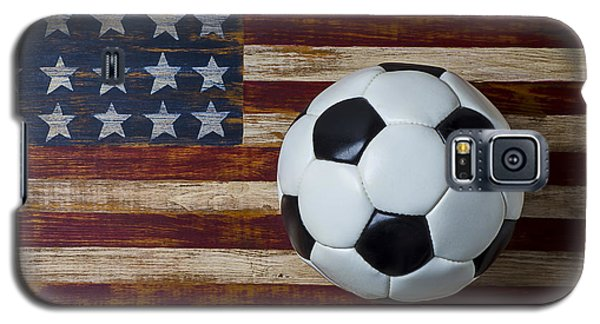 Soccer Ball And Stars And Stripes Galaxy S5 Case by Garry Gay