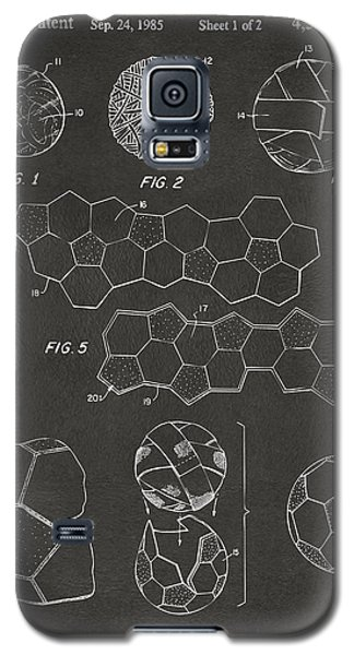 Soccer Ball Construction Artwork - Gray Galaxy S5 Case
