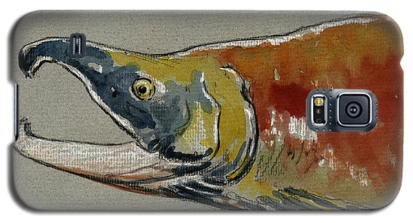 Sockeye Salmon Head Study Galaxy S5 Case by Juan  Bosco
