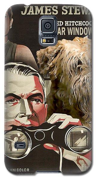 Soft-coated Wheaten Terrier  - Wheaten Terrier Art Canvas Print - Rear Window Movie Poster Galaxy S5 Case