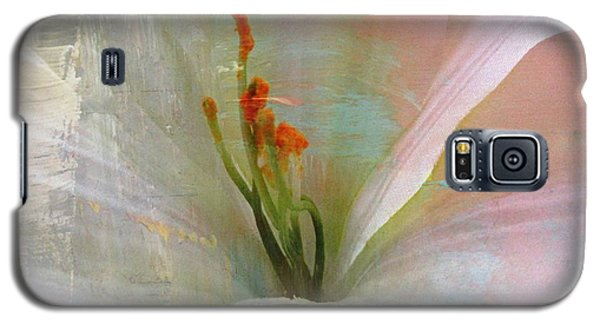 Soft Painted Lily Galaxy S5 Case by Judy Palkimas