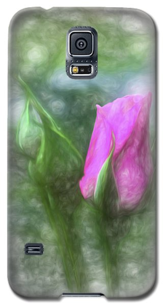 Soft Pink Bud Galaxy S5 Case by Terry Cork