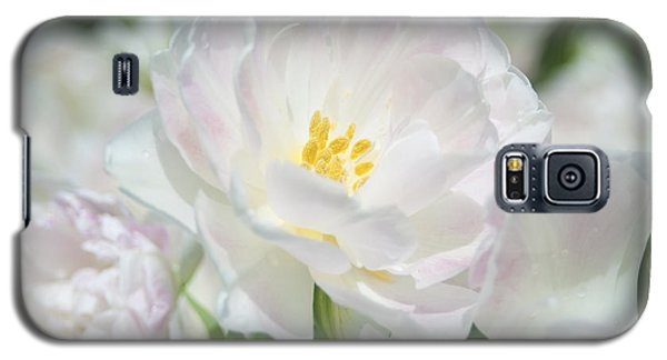 Galaxy S5 Case featuring the photograph White Flower Is Beautiful by Haleh Mahbod