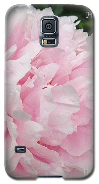 Galaxy S5 Case featuring the digital art Soft Pink Peony by Jeannie Rhode