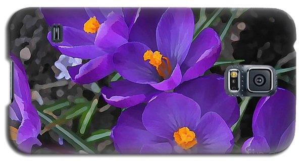 Soft Purple Crocus Galaxy S5 Case
