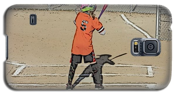 Galaxy S5 Case featuring the photograph Softball Star by Michael Porchik