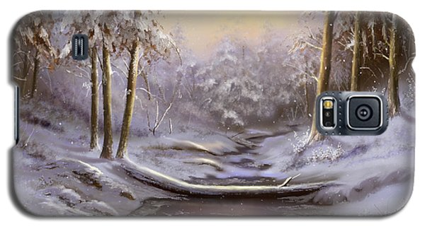 Galaxy S5 Case featuring the painting Softly Falling by Sena Wilson