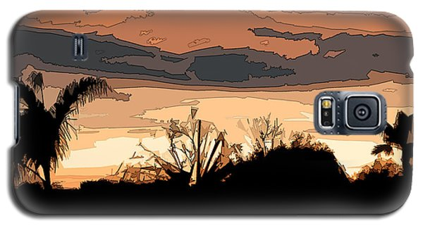 Galaxy S5 Case featuring the digital art Solana Beach Sunset 2 by Kirt Tisdale