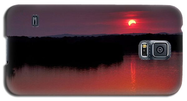 Galaxy S5 Case featuring the photograph Solar Eclipse Sunset by Jason Politte