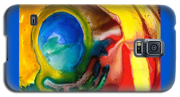 Galaxy S5 Case featuring the painting Solar Flare by Catherine Redmayne