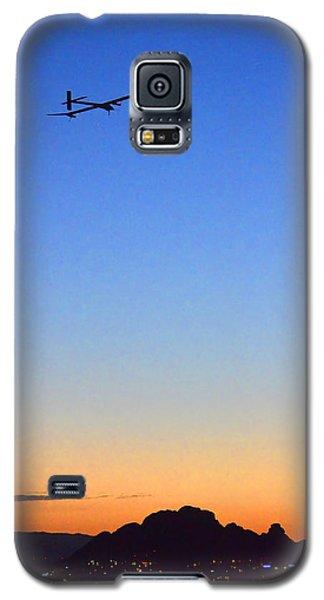 Solar Impulse Departs Sky Harbor May 22 2013 Galaxy S5 Case by Brian Lockett