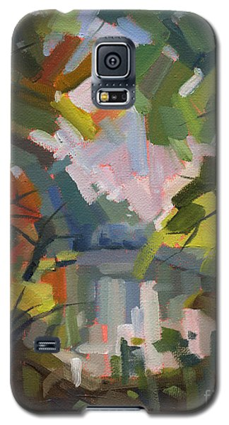 Galaxy S5 Case featuring the painting Sold Darkness Into Light by Nancy  Parsons