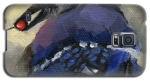 Galaxy S5 Case featuring the painting Sold - Finder's Keepers by Nancy  Parsons