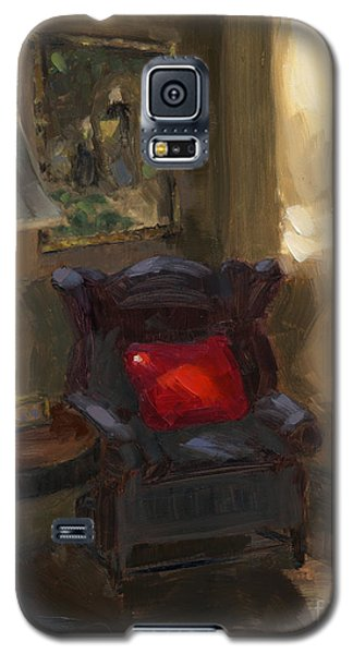 Galaxy S5 Case featuring the painting Sold First Light by Nancy  Parsons