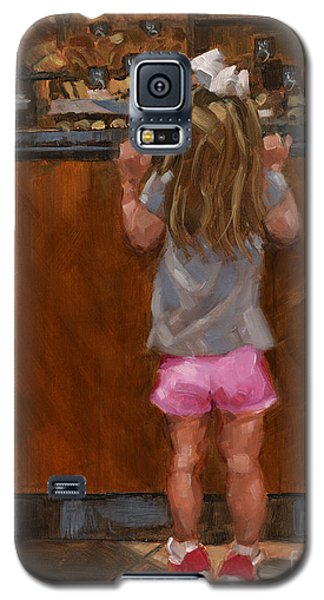 Galaxy S5 Case featuring the painting Sold - Good Golly Miss Mollie by Nancy  Parsons