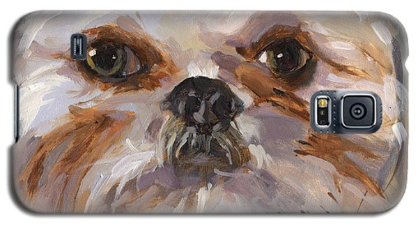 Galaxy S5 Case featuring the painting Sold I'll Be Your Best Friend by Nancy  Parsons