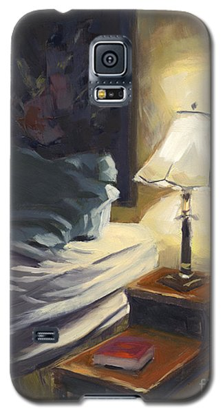 Galaxy S5 Case featuring the painting Sold My Side by Nancy  Parsons