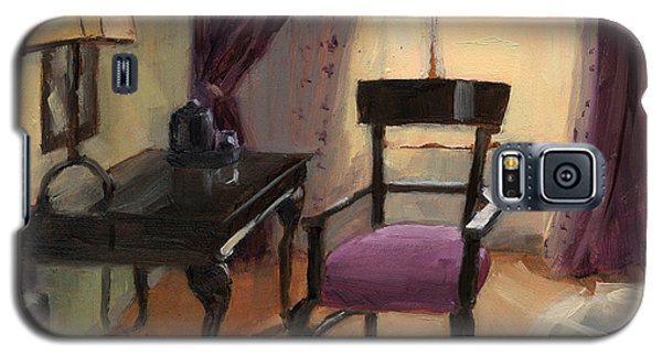 Galaxy S5 Case featuring the painting Sold - Room Service  by Nancy  Parsons