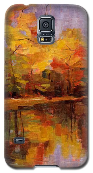 Galaxy S5 Case featuring the painting Sold- Show Your True Colors by Nancy  Parsons