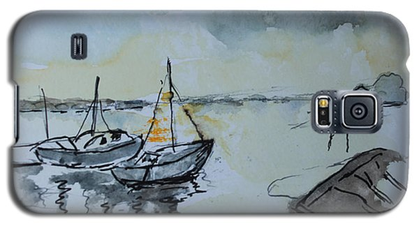 Galaxy S5 Case featuring the painting Solemn Wreck. Justin by Rosemary Colyer