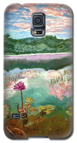 Solitary Bloom Galaxy S5 Case by Belinda Low