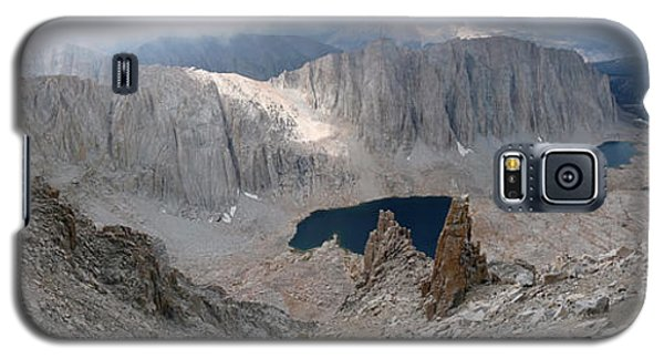 Galaxy S5 Case featuring the photograph Solitary Hiker Panorama by Alan Socolik