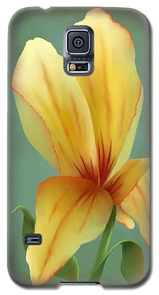 Solitary Yellow Tulip Galaxy S5 Case