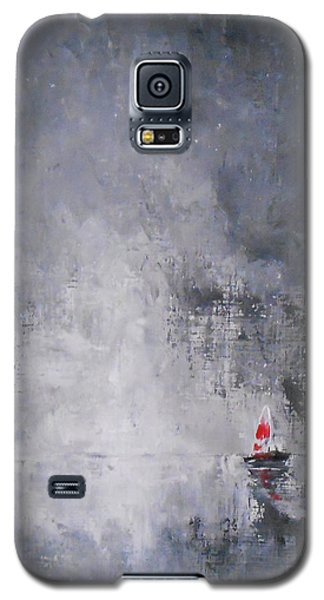 Galaxy S5 Case featuring the painting Solitude 2 by Jane  See