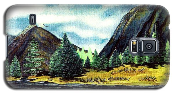 Galaxy S5 Case featuring the painting Solitude by Patricia Griffin Brett