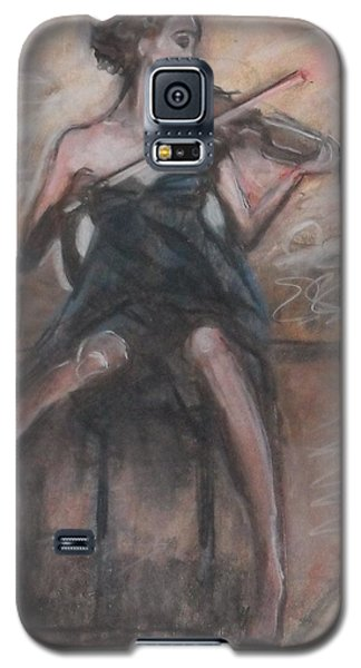 Galaxy S5 Case featuring the painting Solo Concerto by Jarmo Korhonen aka Jarko