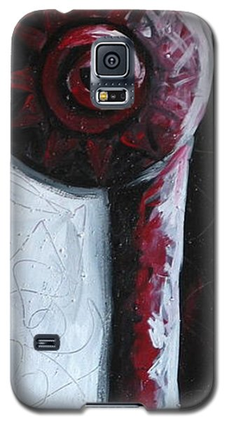 Galaxy S5 Case featuring the painting Solo Indian by Lance Headlee