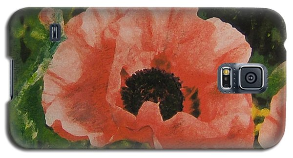 Galaxy S5 Case featuring the painting Solo Poppy by Richard James Digance