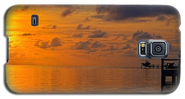 Galaxy S5 Case featuring the photograph Sombrero Beach Sunrise by Pamela Blizzard