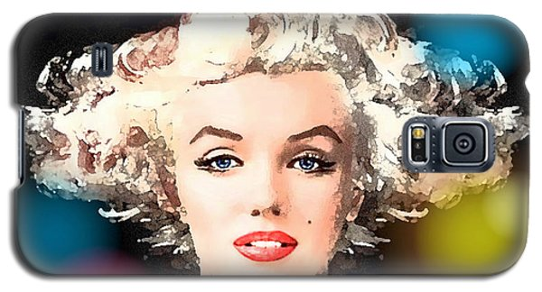 Galaxy S5 Case featuring the painting Marilyn - Some Like It Hot by Hartmut Jager