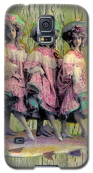 Galaxy S5 Case featuring the mixed media Somethin' Fishy by Desiree Paquette