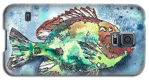 Galaxy S5 Case featuring the painting Something's Fishy by Barbara Jewell