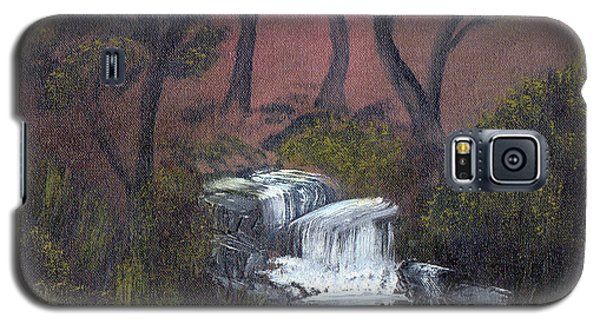 Galaxy S5 Case featuring the painting Somewhere Along A Waterfall by J Cheyenne Howell