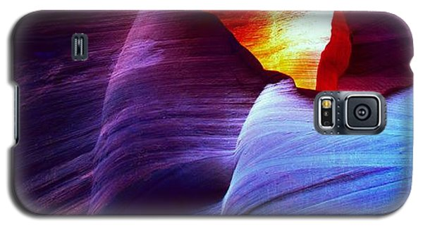Galaxy S5 Case featuring the photograph Somewhere In America Series - Blue In Antelope Canyon by Lilia D