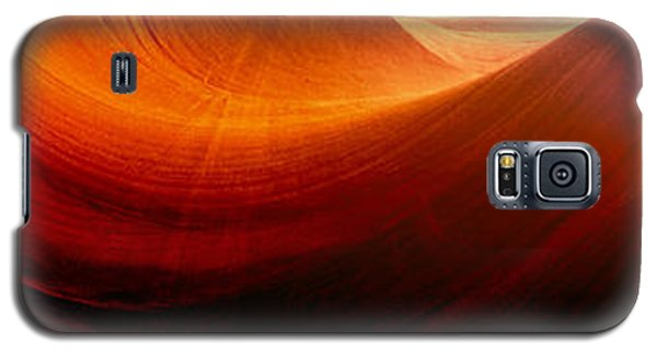 Galaxy S5 Case featuring the photograph Somewhere In America Series - Red Waves In Antelope Canyon by Lilia D